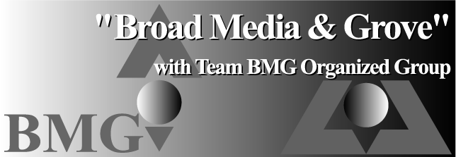 Broad Media & Grove with Team BMG Organized Group : As a firm we pride ourselves on giving clients the technical knowledge and service quality with a focus on personal relationships and affordability.